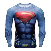Superman Long Sleeve Compression Shirt