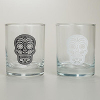 Muertos Double Old Fashioned Glasses, Set of 2 | World Market