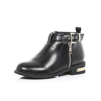 Girls black buckle ankle boots - Boots - shoes / boots - girls