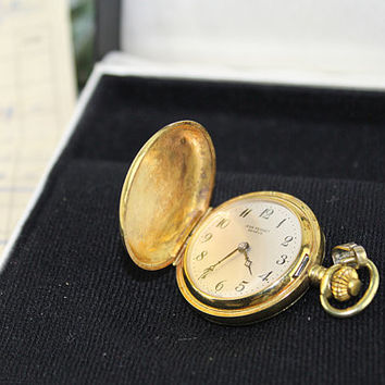 Jean Perret Geneve Gold Pendant or Pocket Watch Original Box and Receipt, J211