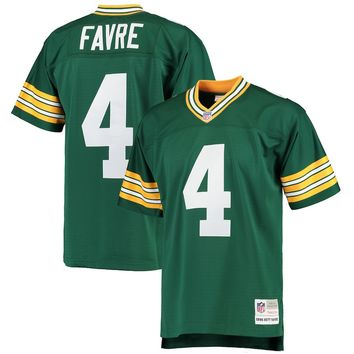 Men's Green Bay Packers Brett Favre Mitchell & Ness Green 1996 Replica Retired Player Jersey