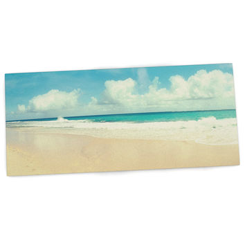 "Sylvia Cook ""Beach Time"" Brown Blue Desk Mat"