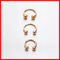 Rose Gold Horseshoe Ring 16g Septum Horseshoe 14g Cartilage Earrings 18g Nipple Ring Circular Barbell Tragus Jewelry