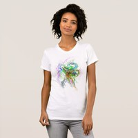 Free Association Design on Women's T-Shirt