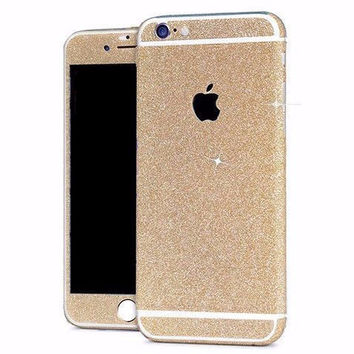 Golden Glitter Decal Stickers for iPhone