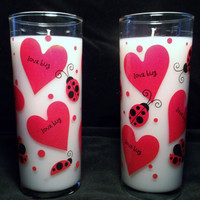 Love Bug Valentine Chocolate Covered Strawberries 10 oz Soy Candle Set of 2