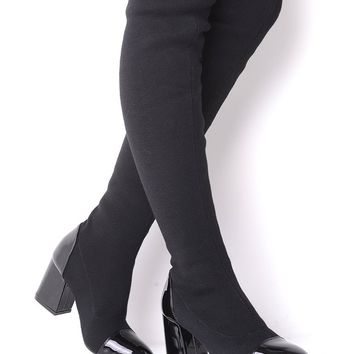 Over The Knee Stretch Sock Boots