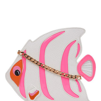 White/Pink Fish Cross Body Bag