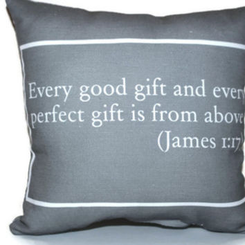 Bible Verse Pillow- Custom Fabric Scripture Pillow- Gift for New Home, Baby Shower, Wedding, Engagement, Anniversary, Everyday Motivational