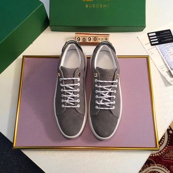 Buscemi Men's Suede Leather Fashion Low Top Sneakers Shoes