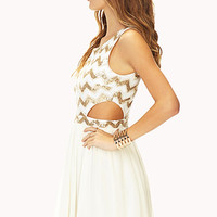 Showstopper Sequin Cutout Dress
