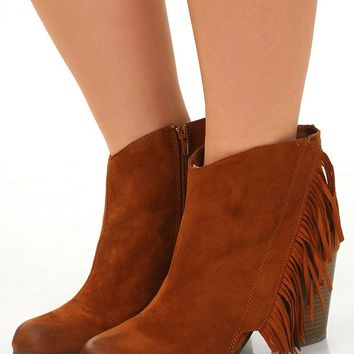 Step Out In Style Booties: Rust