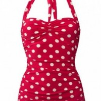 Esther Williams Women's 50s Pin Up One Piece Swimsuit:Amazon:Clothing