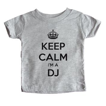 Keep Calm I'm A DJ Baby Tee