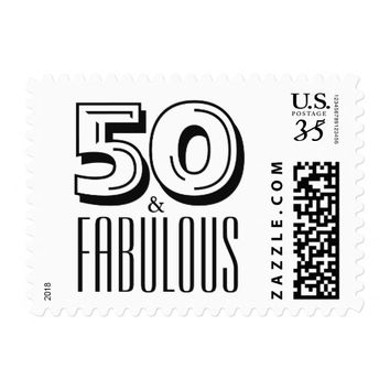 50 and Fabulous Birthday Party Postage