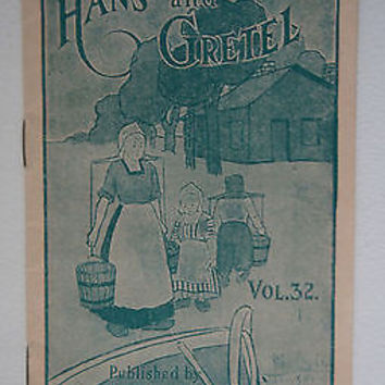 Hans & Gretel Story Book No.32 Faultless Starch Library 1900 Century
