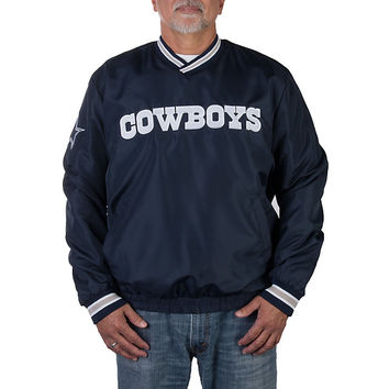 Dallas Cowboys Taslan Pullover Windbreaker | Outerwear | Other | Mens | Cowboys Catalog | Dallas Cowboys Pro Shop