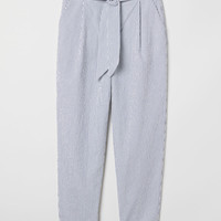 H&M Striped Paper-bag Pants $34.99