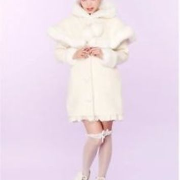 Sale! Authentic Swankiss Snow Princess Cape Style Coat 75% Wool