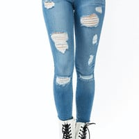 Tom-Up-Skinny-Jeans LTBLUE - GoJane.com