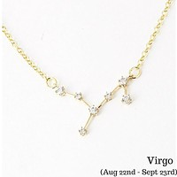 Virgo Celestial Constellation Zodiac Necklace - As seen in Real Simple & People Magazine