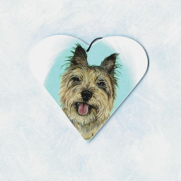 Cairn Terrier Ornament - Cairn Terrier Art - Cairn Terrier - Pet Portrait - Christmas Ornament - Pop Art - Whimsical Dog Art - Weeze Mace