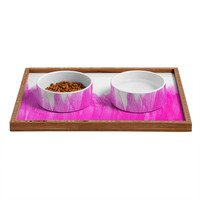 Allyson Johnson Pink Brushed Pet Bowl and Tray