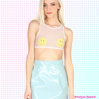 BABY BLUE VINYL MINI SKIRT