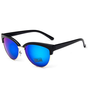 Semi-rimless Designed Frame Sunglasses with Alloy