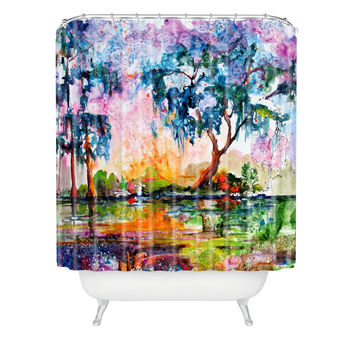 Ginette Fine Art Garden Of Good And Evil Savannah GA Shower Curtain