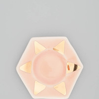 Ring Dish - Peach + Gold