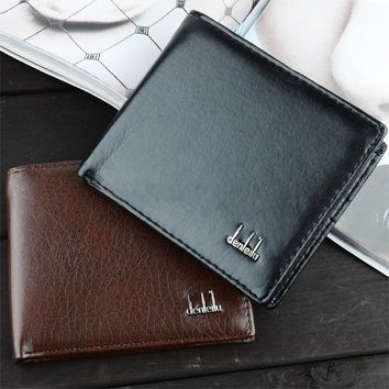 Stylish Men's Pocket Card Clutch Bifold Slim Synthetic Leather Wallet