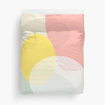 'Lost In Shapes II #redbubble #buyart' Duvet Cover by designdn
