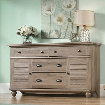 Sauder Harbor View 4 Drawer Cubby Dresser