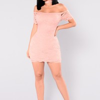 Rory Lace Dress - Mauve