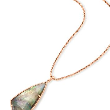 Carole Rose Gold Long Necklace in Gray | Kendra Scott