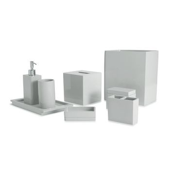 Lacca Grey Lacquer Bathroom Accessories