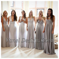 Bridesmaid Dress, Convertible Bridesmaids Dress - Grey Ombre effect ** Over 50 Colors **