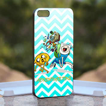 Chevron Mint Adventure Time  - Design available for iPhone 4 / 4S and iPhone 5 Case - black, white and clear cases