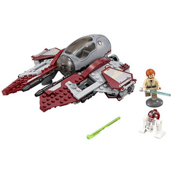 New LEPIN 227Pcs Star Wars Obi-Wans Jedi Interceptor Minifigures Building Blocks Sets Toys Gifts Compatible with Lego 75135