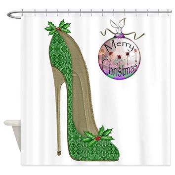 CHRISTMAS STILETTO SHOWER CURTAIN