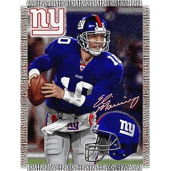 "Eli Manning  - New York Giants NFL Players 48""x 60"" Woven Tapestry Throw"