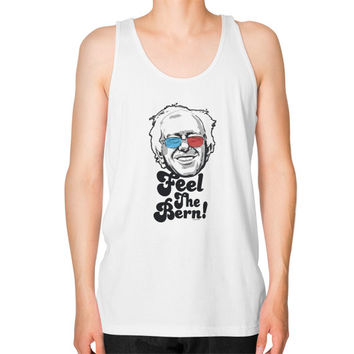 Bernie Sanders Pop Art Portrait  Unisex Fine Jersey Tank (on man)