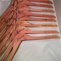 Personalized Hanger - Perfect for a Wedding, Bridal Party, Shower, or Gift - Cedar Wood ~ FREE SHIPPING