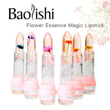 baolishi flower lipstick jelly lipstick crystal lip balm Plants fruit essence lip gloss tint beauty brand makeup cosmetics