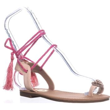 Circus by Sam Edelman Binx-1 Flat Sandals, Natural Naked, 6.5 US / 36.5 EU