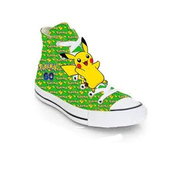 Green Limited edition POKEMON GO PIKACHU birthday inspired shoe (NON-CONVERSE)