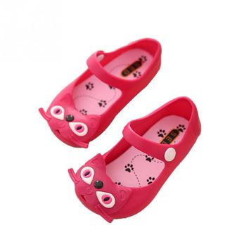 Girls Jelly Shoes Kids Summer Sports Sneakers Cute Cat Soft Cartoon Sandals Little Girl Love Walking Wear Shoes