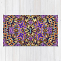 Uzochiz Zigzag Area & Throw Rug by Webgrrl
