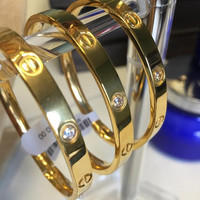 Cartier Inspired Bangle with Crystal